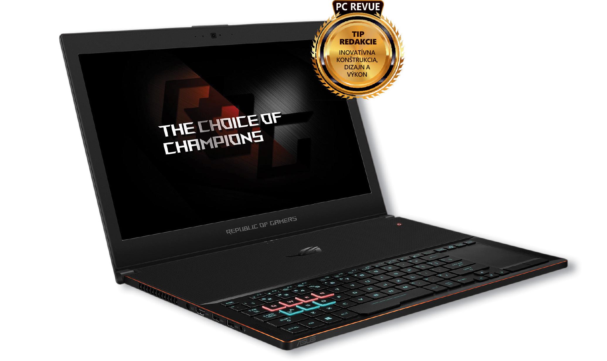ASUS GX501V  Najtenší herný notebook s netradičnou konštrukciou 989f1ddb74f