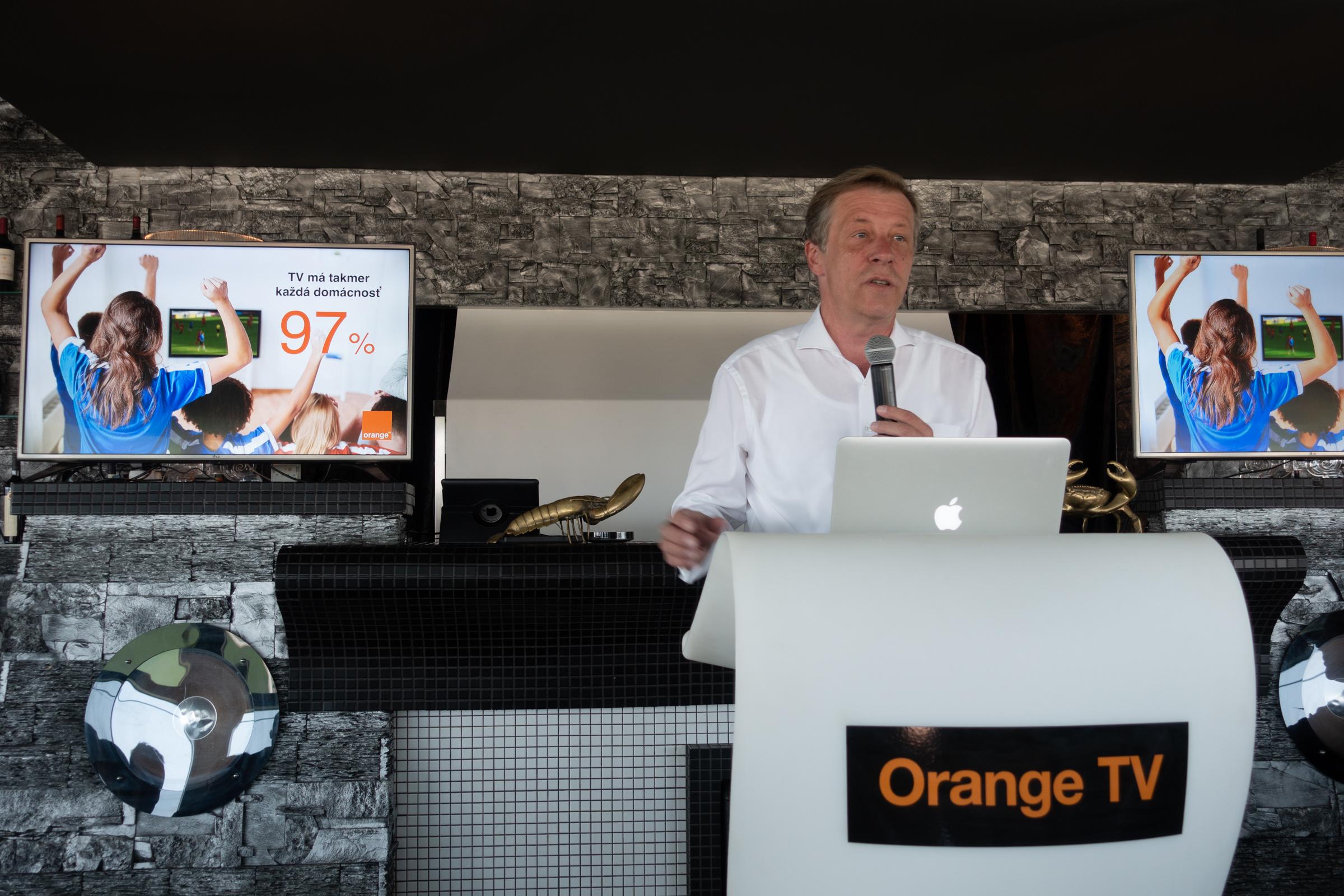 02b732765 Službu predstavil generálny riaditeľ Orange Slovensko Pavol Lančarič.  Inovácia okrem možnosti príjmu cez satelit ...