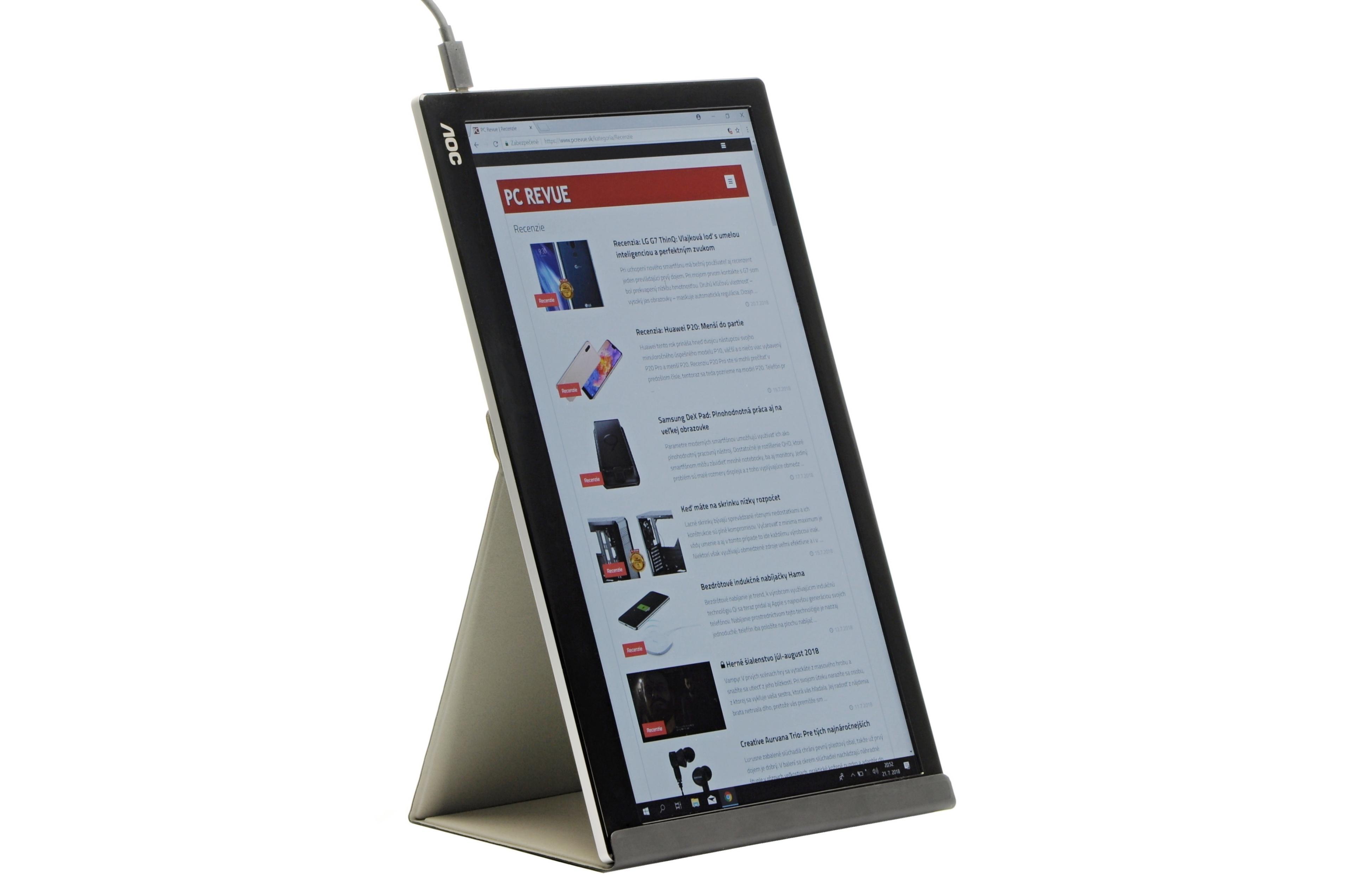 dd277b5db PC Revue   Recenzia: AOC I1601FWUX: Prenosný monitor do tašky