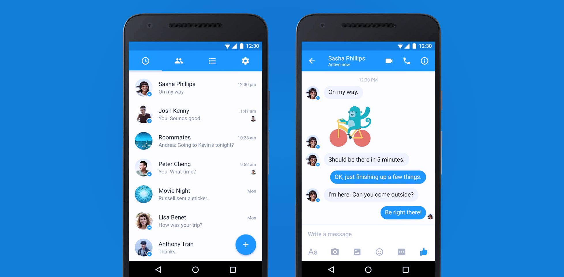 PC Revue | Facebook has redesigned Messenger for simplicity