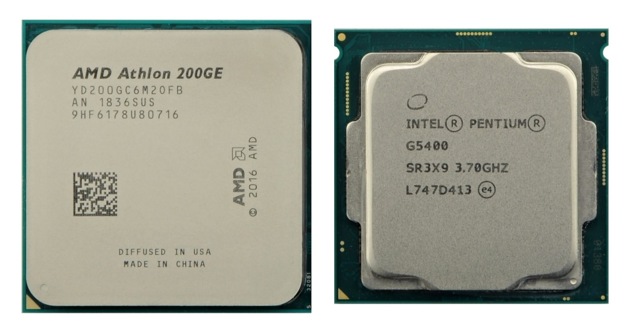 Photo AMD Athlon 200GE proti Intel Pentium G5400: Duel lowendových procesorov