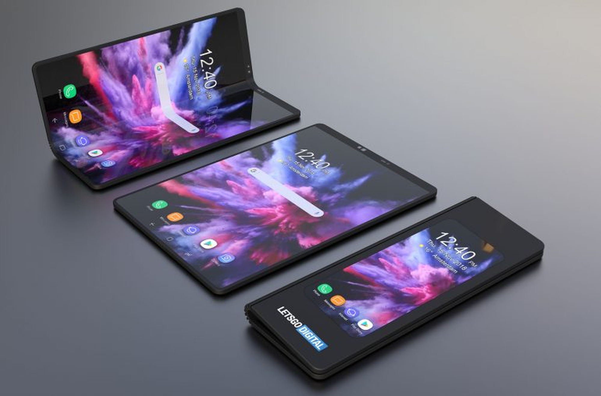 Photo Uniknuté video na YouTube zachytáva Samsung Galaxy Fold so záhybom na displeji